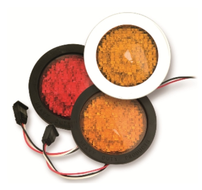 Alt Enterprises Elite Series 4inch Round LED Red STT-Amber Turn Light and Light Kit