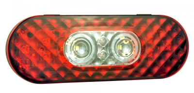 Grote Oval LED Stop Tail Turn Lights with Integrated Back-up